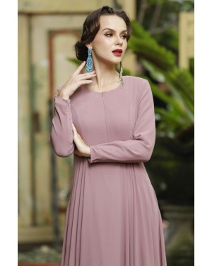 CLARA DRESS - DUSTY PURPLE