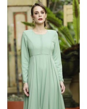 CLARA DRESS - DUSTY GREEN