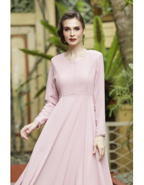 CLARA DRESS - DUSTY PINK